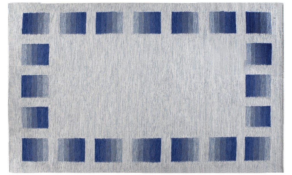 Blå gent tæppe