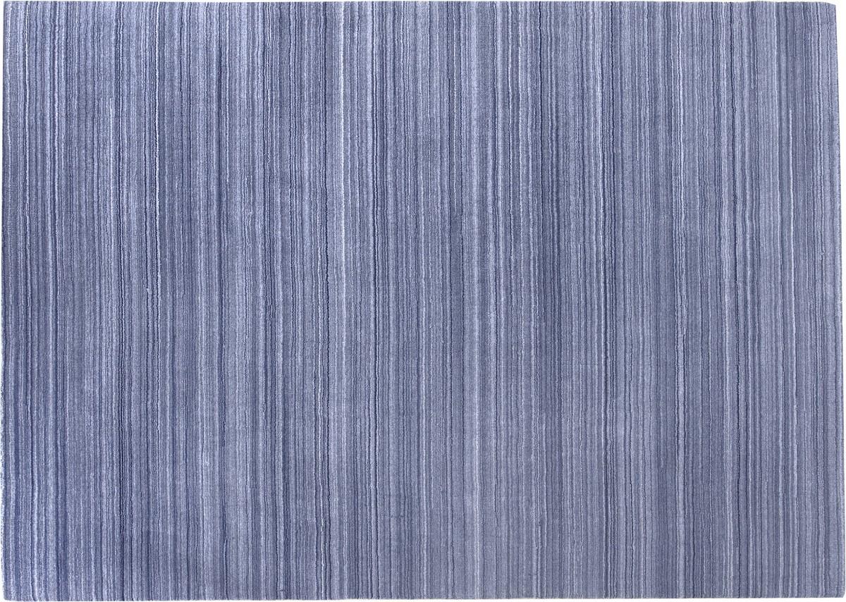 Kreatex pastel blå fladvævet afpasset tæppe
