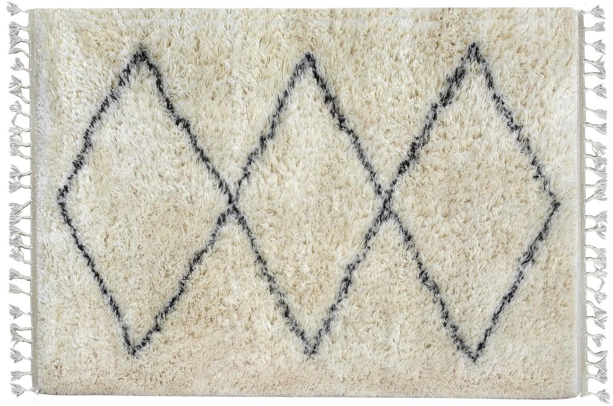 Smukt håndknyttet tæppe fra Kreatex blødt og lækkert afpasset tæppe